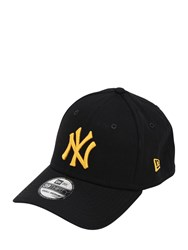 New Era Ny Yankees Cotton Canvas Baseball Hat Black