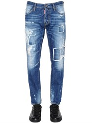 Dsquared 16.5Cm Cool Guy Patches Denim Jeans