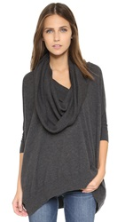 Bop Basics Cashmere Cowl Neck Sweater Charcoal