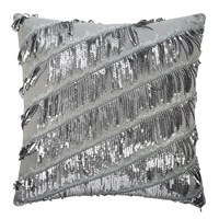 Kylie Minogue At Home Eliza Bed Cushion Pewter 50X50cm
