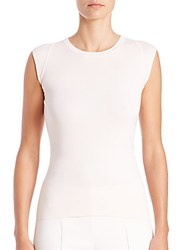 Akris Knit Stretch Silk Top White