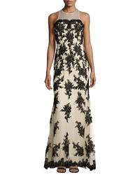 Basix Black Label Strapless Illusion Lace Dress Black Nude