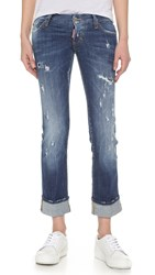 Dsquared Sexy Rolled Up Flare Jeans Blue