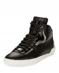 Bally Eroy Leather High Top Sneaker Black
