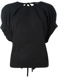 Salvatore Ferragamo Ribbed Cuff T Shirt Black