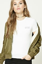 Forever 21 Live For Music Graphic Tee Cream Black