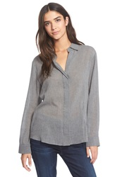 Sam Edelman 'Kylie' Zip Back Shirt Heather Grey