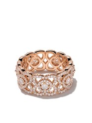 De Beers 18Kt Rose Gold Enchanted Lotus Diamond Band