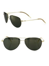 Oliver Peoples Benedict 59Mm Mirrored Aviator Sunglasses Gold
