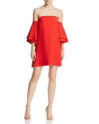Milly Cady Mila Off The Shoulder Dress Tomato