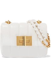 Tom Ford Natalia Large Quilted Leather Shoulder Bag White