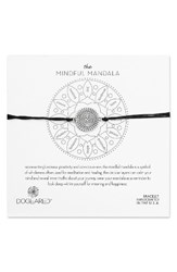 Dogeared Women's The Mindful Mandala Bracelet Silver