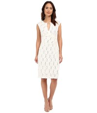 Rsvp Patricia Keyhole Dress Ivory Women's Dress White