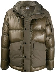 C.P. Company Cp Large Flap Pocket Puffer Jacket Green