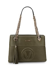Valentino By Mario Valentino Karina Svg Leather Bag Army Green