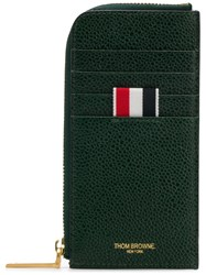 Thom Browne Edge Stain Half Zip Around Wallet Green