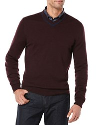 Perry Ellis Knit V Neck Sweater