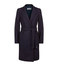 Escada Sport Belted Lapel Detail Coat Female Navy