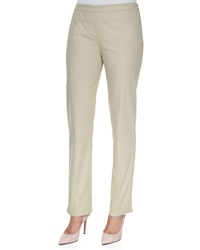 Lafayette 148 New York Bleecker Bi Stretch Side Zip Pants Raffia