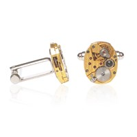 Lc Collection Hamilton Watch Movement Cufflinks Perfect Gift Limited Edition Gold