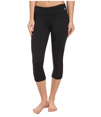 Trina Turk Active Mesh Solids Mid Length Legging Black Women's Workout