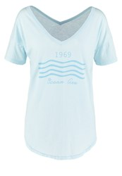 Gap Print Tshirt Pacific Mist Dark Blue