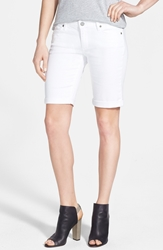 Paige 'Jax' Stretch Denim Bermuda Shorts Optic White