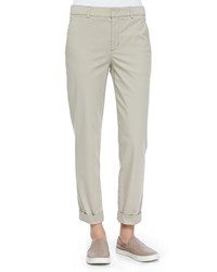 Rolled Cuff Boyfriend Trousers Light Khaki Vince
