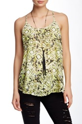 Romeo And Juliet Couture Printed Tank Yellow