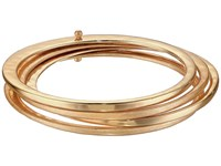 Robert Lee Morris Gold Hammered Bangle Set Bracelet Gold Bracelet