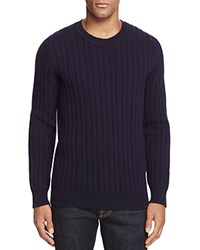 Bloomingdale's The Men's Store At Chunky Cableknit Sweater Navy
