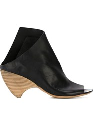 Marsell Asymmetric Open Toe Mules Black