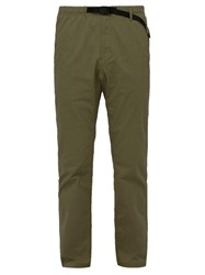 Gramicci Belted Stretch Cotton Twill Trousers Khaki