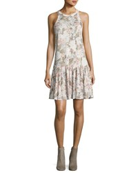 Rebecca Taylor Penelope Floral Print Jersey Tank Dress Multicolor