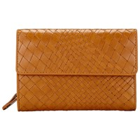 Collection Weekend By John Lewis Rosa Weave Leather Coin Purse Tan
