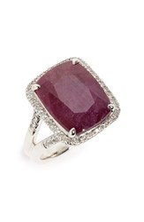 John Hardy Women's Classic Chain Gemstone Ring Indian Ruby