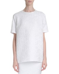 Givenchy Short Sleeve Oversized Lace Blouse White