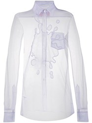 Viktor And Rolf The Splash Tulle Shirt Purple