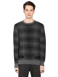 Off White Geelong Lambs Wool Plaid Sweater