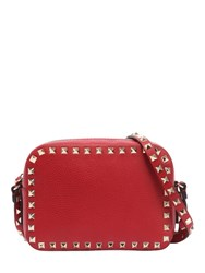 Valentino Garavani Rockstud Leather Camera Bag Rouge Pure