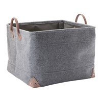 Aquanova Lubin Storage Basket Silver Grey Large
