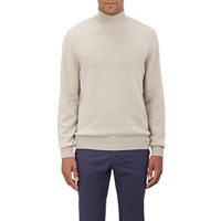 Mock Turtleneck Sweater Beige Tan
