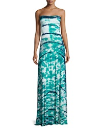 Young Fabulous And Broke Young Fabulous And Broke Bangal Tie Dye Convertible Maxi Dress Skirt Green Navy