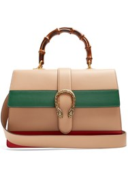 Gucci Dionysus Bamboo Handle Large Leather Tote Camel