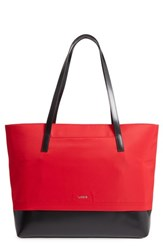 Lodis Kate Fabia Under Lock And Key Nylon And Leather Tote Red