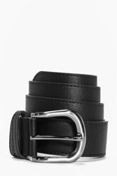 Boohoo Pu Belt With Metal Buckle Black