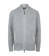 Dsquared2 Chunky Knit Cardigan Male Grey