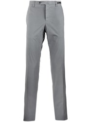 Pt01 Straight Cut Chino Trousers Grey