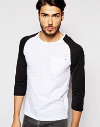 Produkt Contrast Raglan 3 4 Length Sleeve Top Whiteblack