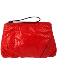 Zagliani Clutch Bag Red